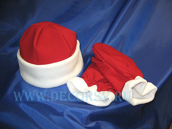 Как сделать шапку деда мороза из ткани